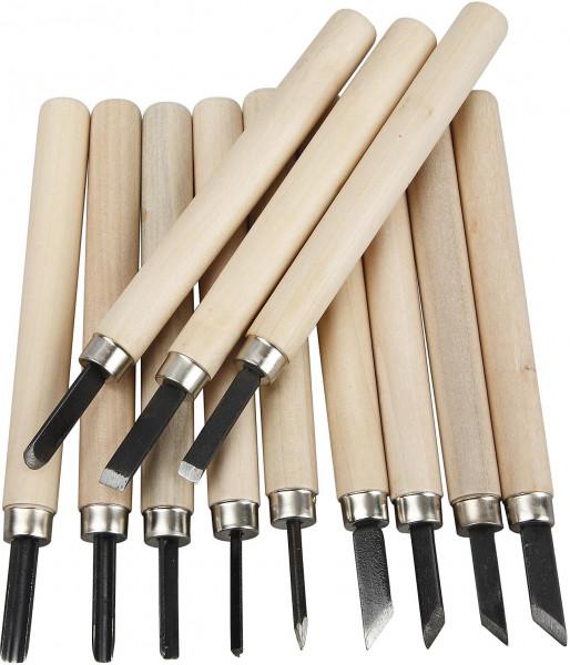 Schnitzwerkzeuge SET für Speckstein und Holz 12-teilig