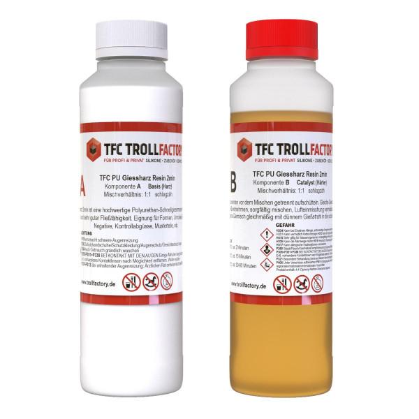 TFC PU Giessharz Resin 2min 1zu1 - Größe: 1kg (500g+500g)