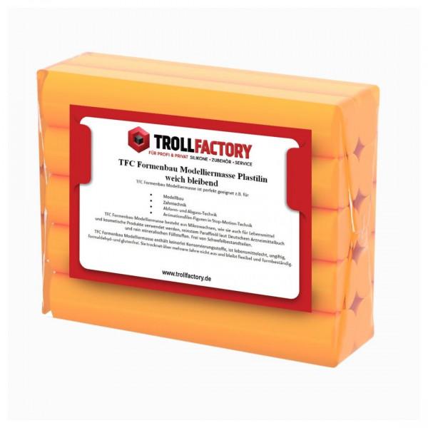 TFC Formenbau Modelliermasse orange Plastilin weich bleibend  - Größe: 1kg